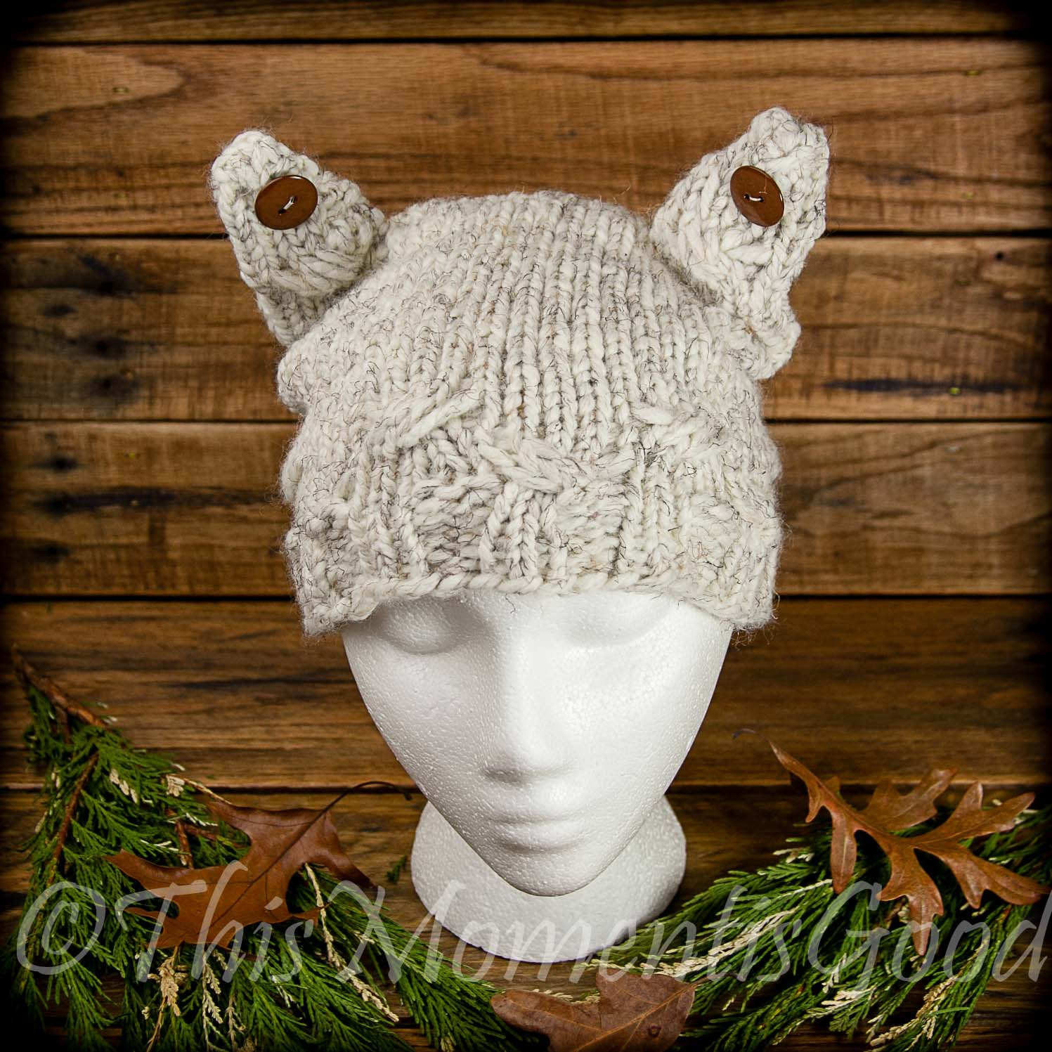 Loom Knit Cable Stitch Hat : LOOM KNIT CAT HAT PATTERN; THE CABLE KITTY HAT! This Moment is Good