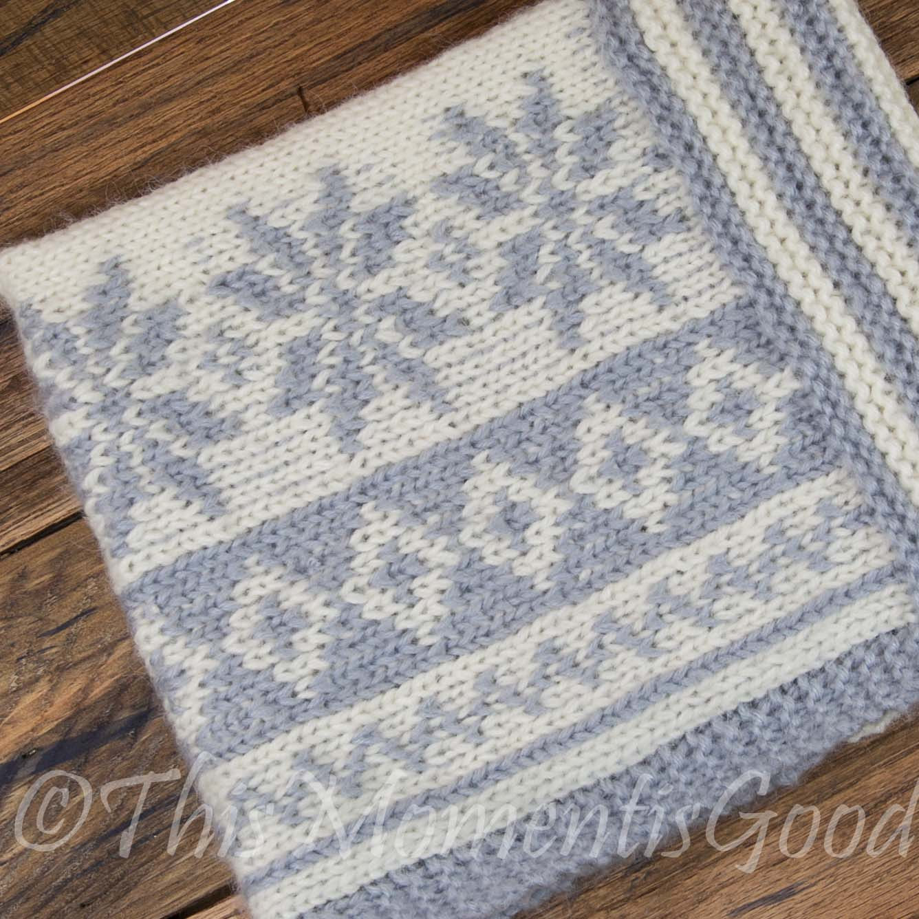 Cowl Loom Knitting Pattern : Loom Knit Fair Isle Cowl PATTERN. Loom Knit Snowflake Cowl, Scarf Patt This...