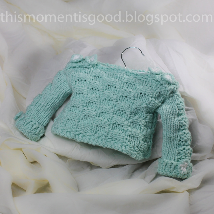 Loom Knit Baby Sweater Pattern Checkerboard Pattern On
