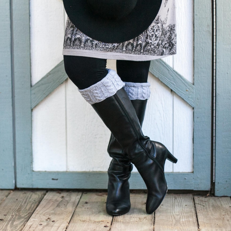 Loom Knit Cable Boot Toppers Pattern Cable And Rib Boot Cuffs