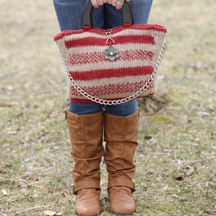 Loom Knit Handbag Patterns Loom Knit Purse Loom Knit Tote Felted