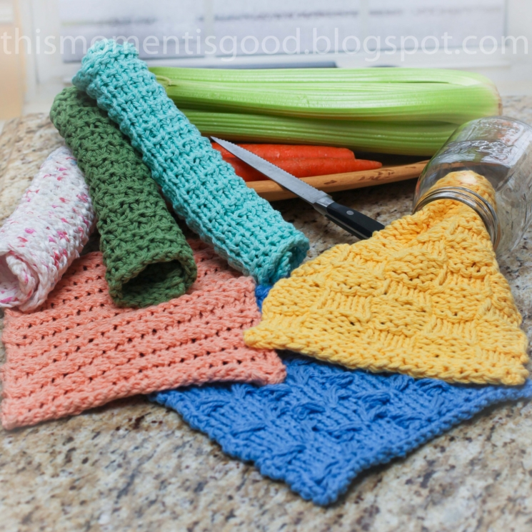 LOOM KNIT WASH CLOTH PATTERNS. (7) UNIQUE PATTERNS INCLUDED