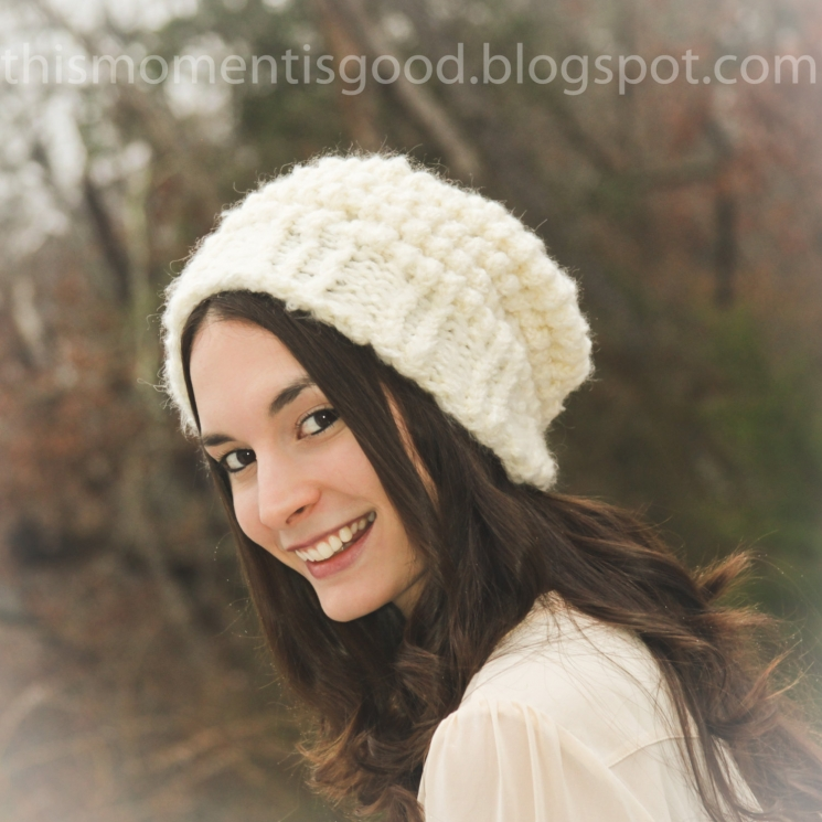 LOOM KNIT LADIES VINTAGE STYLE HAT PATTERN