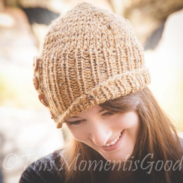 Loom Knit Ladies Tweed Cloche Hat Pattern