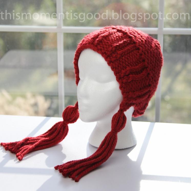 557790048f4 Loom Knit Earflap Hat With Tassels Pattern. PATTERN ONLY! Adult Teen ...