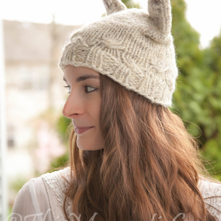 LOOM KNIT CAT HAT PATTERN; THE CABLE KITTY HAT! | This ...