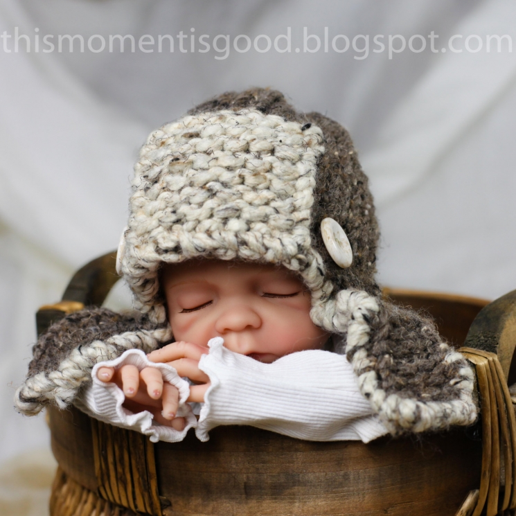 LOOM KNIT AVIATOR HAT FOR BABY PATTERN