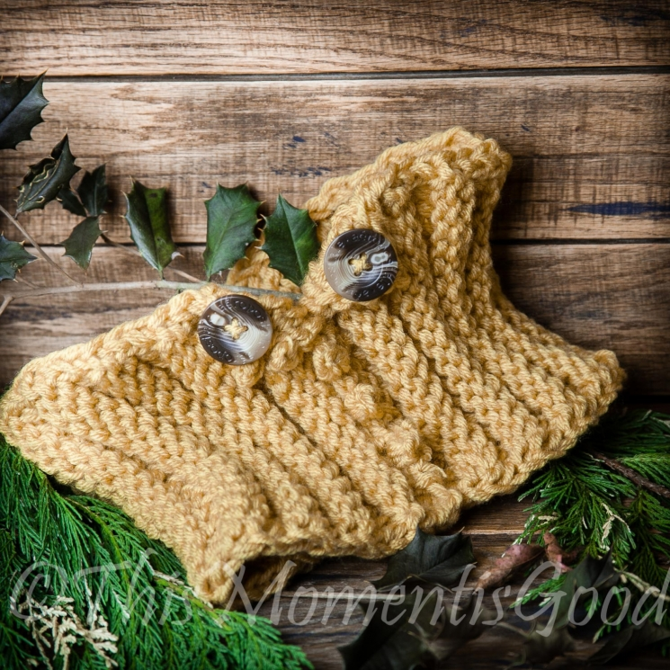OM KNIT PICOT & RIBBED COWL PATTERN