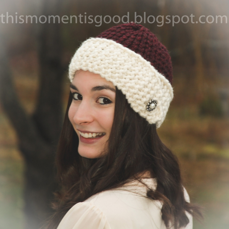 LOOM KNIT CLOCHE HAT PATTERN. 1920'S STYLE LOOM KNIT HAT PATTERN