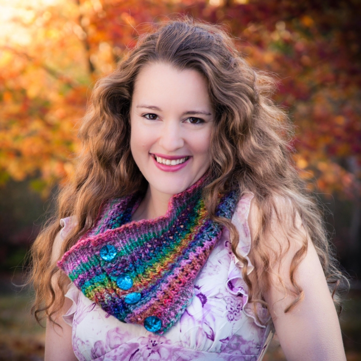 Loom Knit Lace Cowl PATTERN, Eyelet, Colorful, Lacy, Ladies Draped Cowl, PDF PAT