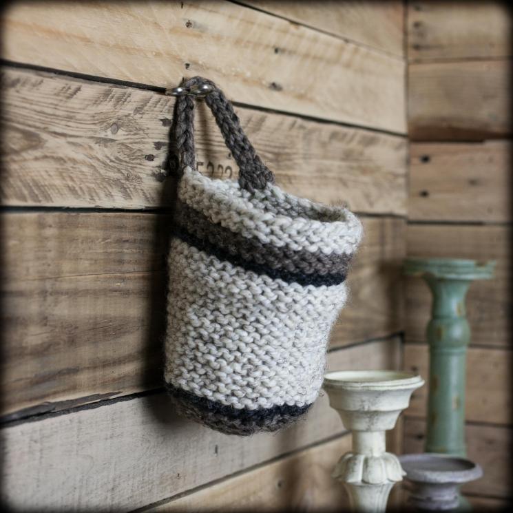 Loom Knit Basket PATTERNS,  Bread Basket, Yarn Basket, Door Knob Basket, Round B