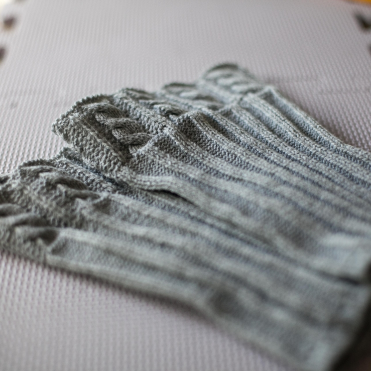 Loom Knit Cable Boot Toppers PATTERN