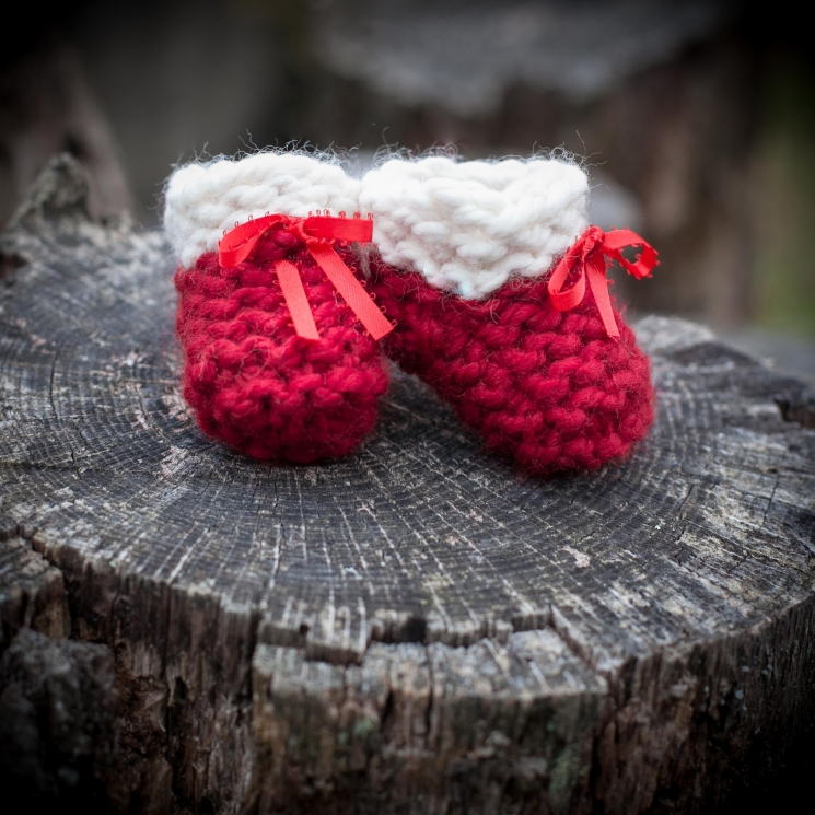Loom Knit Baby Shoes