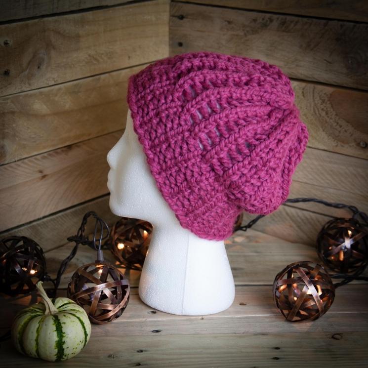 Loom Knit Eyelet Lace Hat Pattern, PDF PATTERN Download