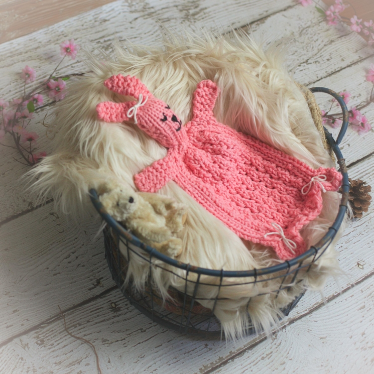 Loom Knit Bunny Lovey Pattern, Bunny Blanket Toy PDF PATTERN. Great Homemade Gif