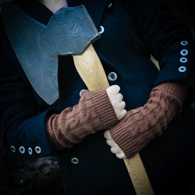 Loom Knit Fingerless Gloves Mitts Pattern