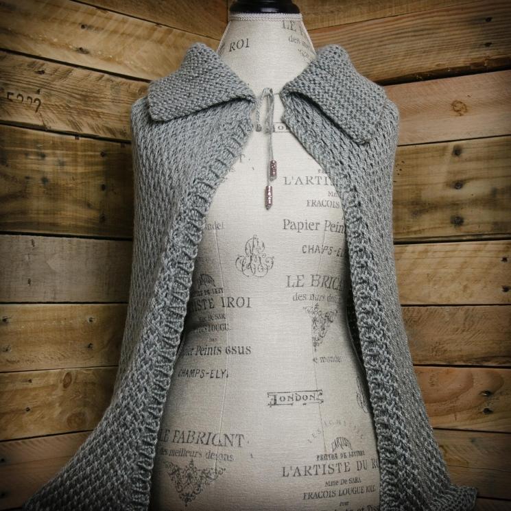 Loom Knit Cape Pattern Loom Knit Wrap Shawl Pattern