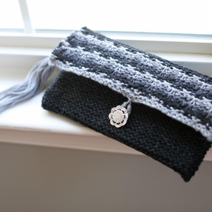 Loom Knit Clutch, Purse, Evening Bag, Wristlet PATTERNS. Elegant Evening Bag, We