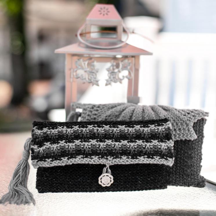 Loom Knit Clutch, Purse, Evening Bag, Wristlet PATTERN. Elegant Evening Bag, Wed