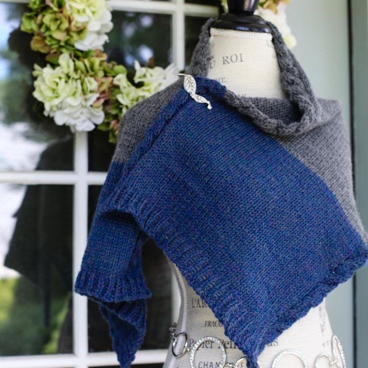 Loom Knit Wrap Pattern With Cable Edge Loom Knitting Pattern