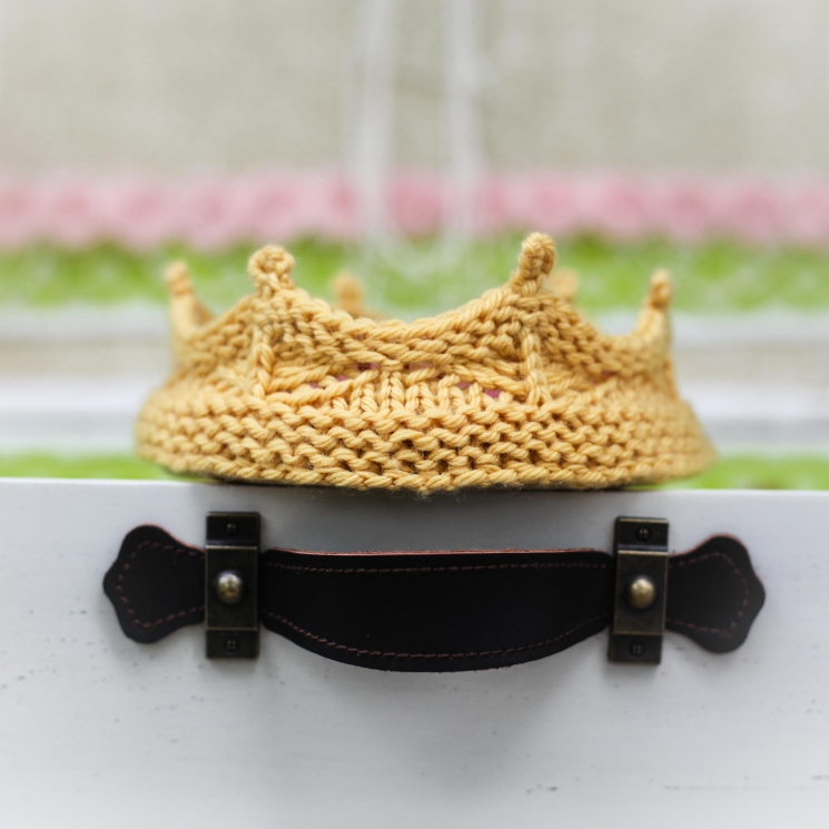 Loom Knit Crown Headband Pattern For Newbornsbabies This Moment