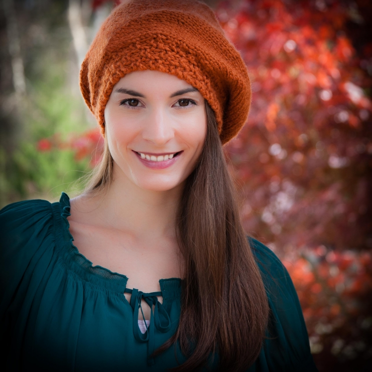 Loom knit beret, hat PATTERN, painters cap, slouch hat, adult teen size, PDF Pat