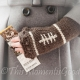 LOOM KNIT FINGERLESS MITTS PATTERN. FOOTBALL THEMED MITTS PATTERN