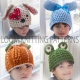 LOOM KNIT CHARACTER HAT PATTERN COLLECTION, 9 ADORABLE PATTERNS