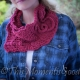 Loom Knit Scarf, Cowl, Shawl Pattern. Wild Rose Cowl, Scarf, Scarflet, Shawl Pat