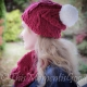 Loom Knit lace cable hat pattern