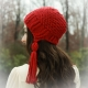 LOOM KNIT EARFLAP HAT WITH TASSELS PATTERN