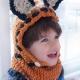 Loom knit Fox Hood Pattern