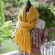 Loom Knit Scarf Pattern, Drop stitch, open weave, ribbed look. Finished scarf ca
