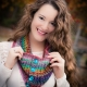 Loom Knit Lace Cowl PATTERN, Eyelet, Colorful, Lacy, Ladies Draped Cowl, PDF PAT