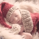 Loom Knit Christmas Cocoon And Santa Hat Pattern For Newborn Baby.