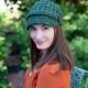 Loom knit newsboy hats, conductor hats, newsboy cap patterns