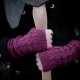 Loom Knit Fingerless Gloves Mitts Pattern