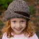 Loom Knit Tweed Cloche Hat PDF PATTERN. Fold up flap, sized for newborn to adult