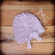 Loom Knit Cloche Hat PATTERN, Side Tie Bow, Vintage, Feminine, Dressy, Hat PDF P