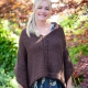 Loom knit poncho/cape pattern by This Moment is Good. The Rebecca Poncho has bea