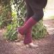 Loom Knit Legwarmer Pattern, Rib and Eyelet Legwarmer Pattern