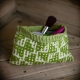 Loom knit wallet, change purse, make up bag, travel case, credit card holder
