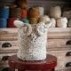 Loom Knit Owl Basket PATTERN, Yarn Basket, Catch-All Basket, Container, Loom Kni