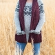 Loom Knit Scoodie Pocket Scarf PDF PATTERN. Warm Wrap With Hood and Faux Fur Tri