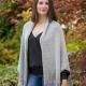 Loom Knit Shrug Style Cardigan Pattern. Oversized fit, Warm Winter Sweater. PDF