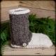 Loom Knit Slipper Boot PATTERN, Loom Knit Shoe, Men, Women, Teen Sizes, PDF PATT
