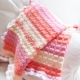 Loom Knit Baby Blanket With Crochet Edging PATTERN. Stroller Size, Tuck Stitch,