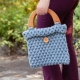 Loom Knit Tote, Stitch & Hat Pattern Set. 2 Loom Knitting Patterns + Stitch Inst