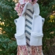Loom Knit Unicorn Pocket Scarf With Hood PDF PATTERN. Double Pockets for hands a