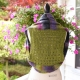 Loom Knit Shrug Vest Pattern. Vest Has A Pretty Eyelet Lace Back. Loom Knitting
